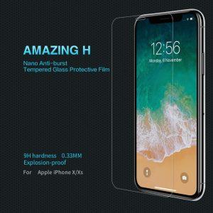 Miếng dán cường lực màn hình & mặt lưng hiệu NILLKIN Amazing H cho iPhone X/XS